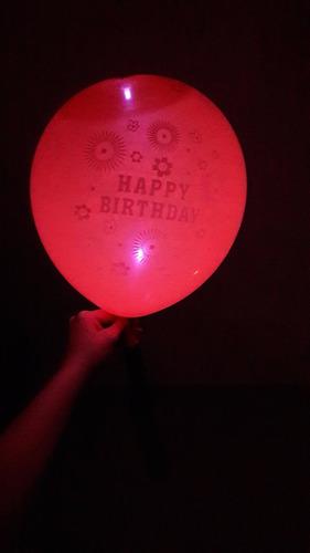 bombas led globo luminoso happy birthday paquete x 5 uds