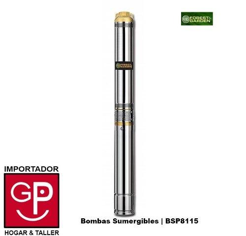 bombas sumergibles forest & garden 2hp bsp8115 g p