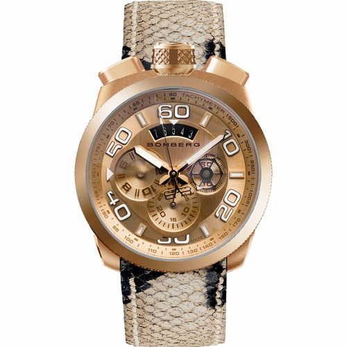 bomberg bolt-68 pink ora gold do chronograph bs448 diego vez