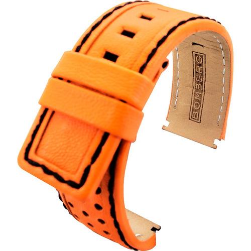 bomberg correa naranja piel perforada neon origina diego vez