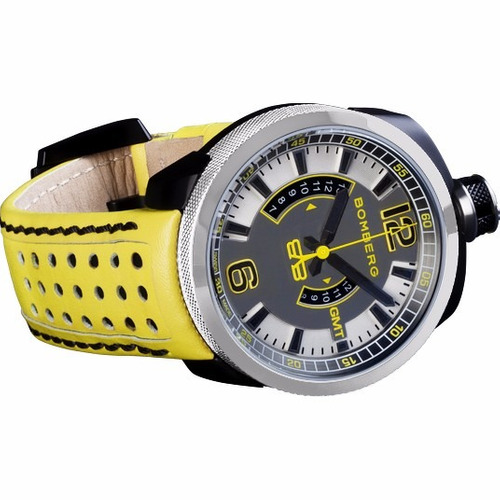 bomberg gmt yellow bolt-68 neon suizo 45mm bs427 diego vez