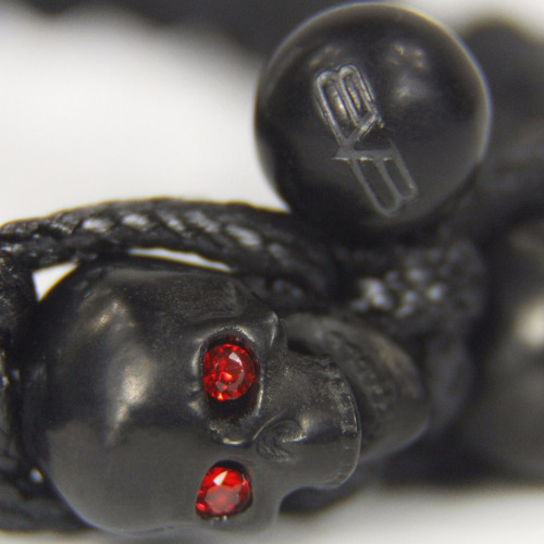 bomberg skully bracelet swarovski full black m3 diego vez