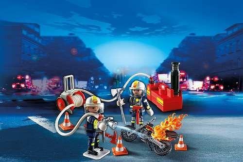 bombero con bomba de agua playmobil r3271