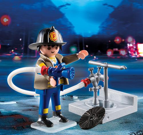 bombero con manguera playmobil pm4795 r5256
