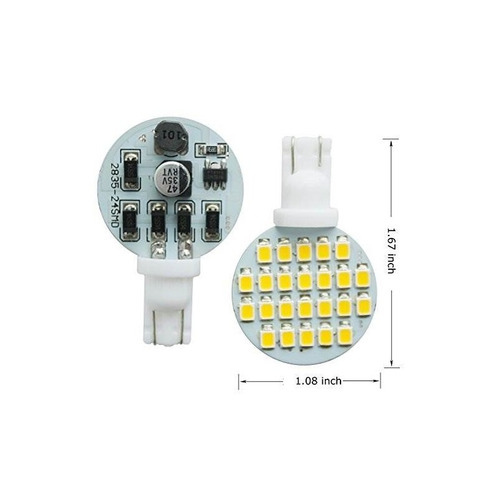bombilla led deponstar-20 x t10 super brillante 3000k ~ 3500
