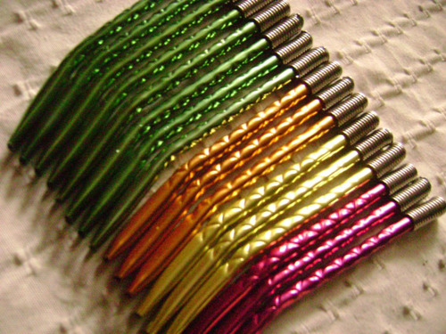 bombillas color anodizadas niqueladas - pack 24