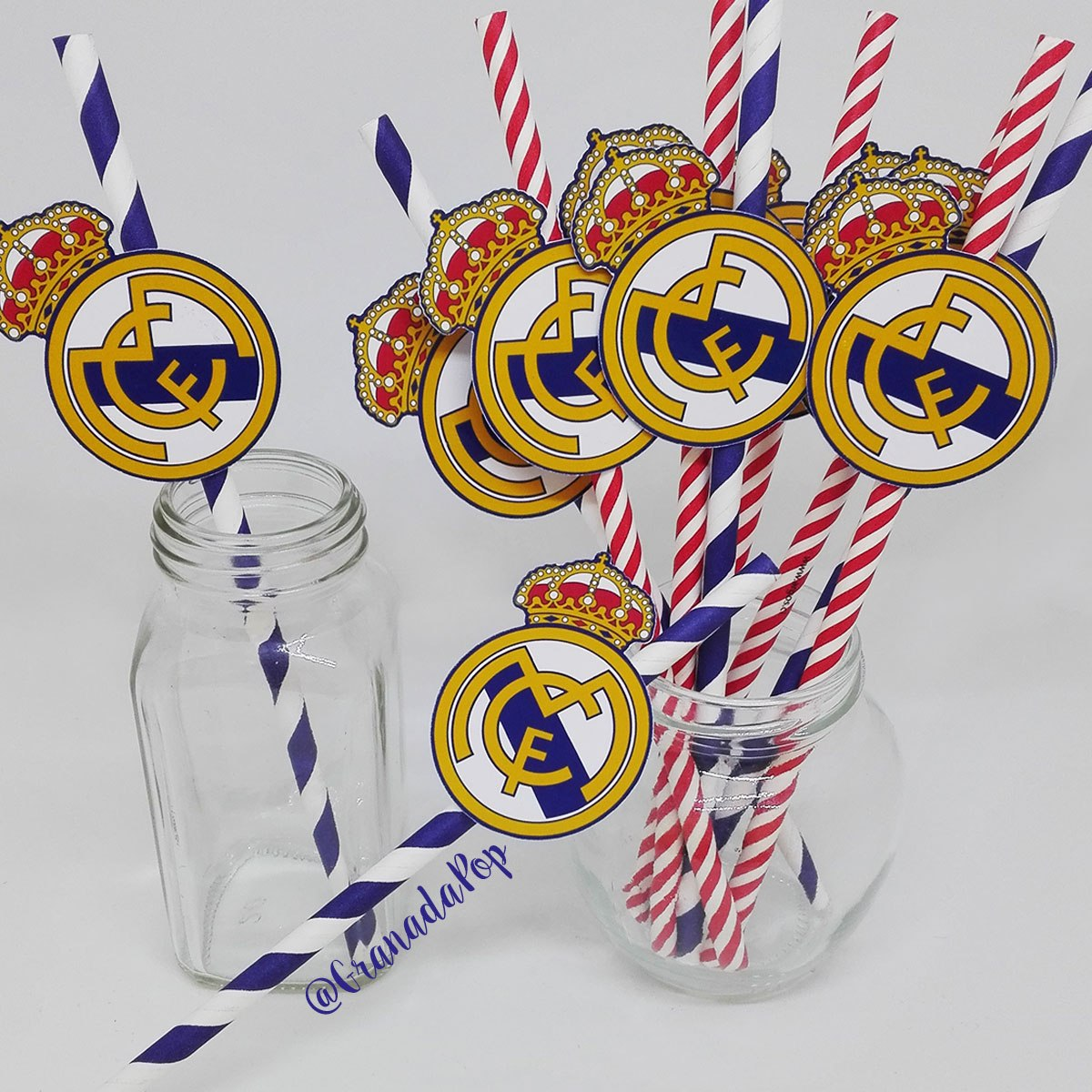 Bombillas De Papel Para Cumpleanos Ronaldo Real Madrid 3 450 En