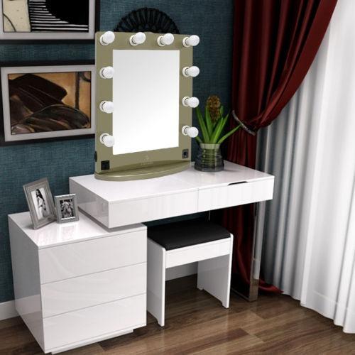 Espejos de tocador con luz beautiful espejos de tocador - Espejo tocador con luces ...