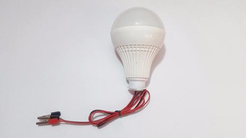 bombillo  12 w   led 12 voltios (energía solar)