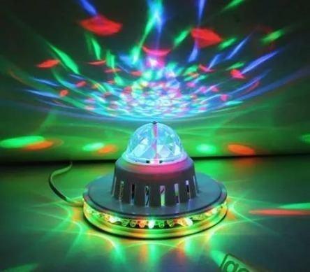 bombillo esfera giratorio led, multi, enchufe. mayor y detal