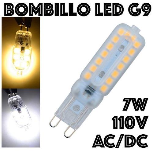 bombillo g9 32 leds ac dc 110v 7w unicamente luz calida