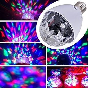 bombillo giratorio led multicolor fiestas y eventos discotec