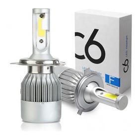 Bombillo H4 Kit Luces Led C6 Para Vehículos De 72w / 7600lm