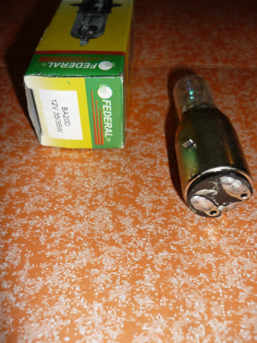 bombillo halogeno tornasol 2c faro moto jaguar - leon c/u