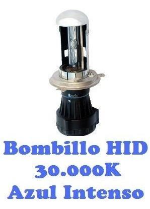 bombillo hid alta y baja mecanizada h4, 9007 y h13 azul !!
