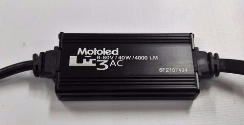 bombillo hid led moto corriente alterna  4000 lm h4