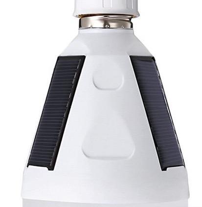 bombillo lampara solar recargable emergencia camping bbq