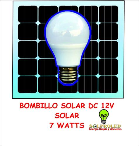 bombillo led 12v 24v 9 watt  panel solar energia bateria dc