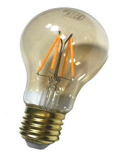 bombillo led 4w vintage filamentos tipo edison ambar 2000k