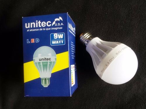 bombillo led 9 w x 5 unidades economiza hasta 80% luz blanca