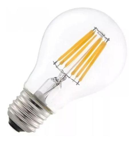 bombillo led de filamento 6,8 watt blanco cálido 2 unidades