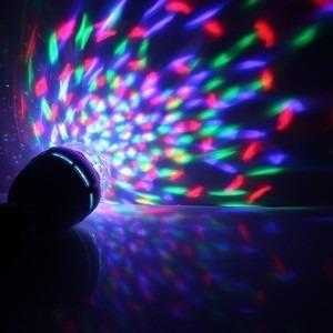 bombillo led giratorio rgb  navidad bares discoteca