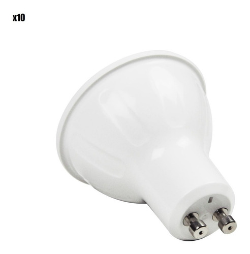 bombillo led gu10 5w luz calida (3000k) (pack x 10)
