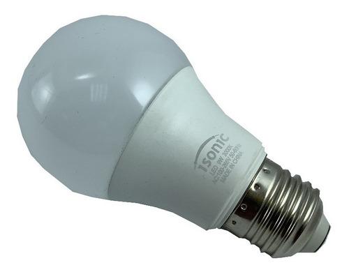 bombillo led isonic e27 9w luz calida por 4 unids isonic