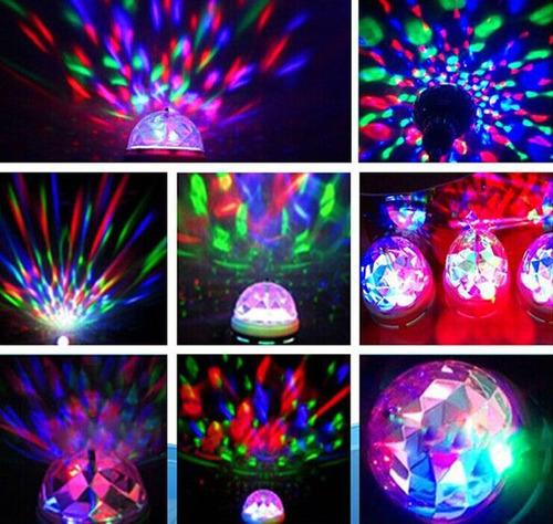bombillo led mini fiesta party rotatorio dj miniteca fiesta
