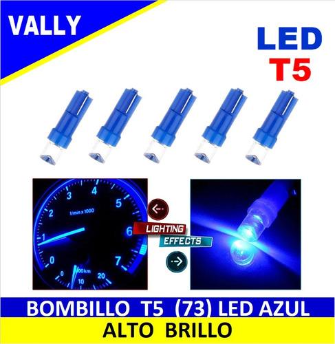 bombillo led mini muelita t5 luz azul tablero par