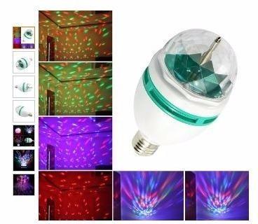 bombillo led multicolor giratorio