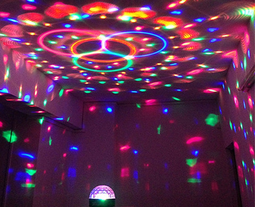 bombillo led multicolor giratorio discoteca fiestas eventos!