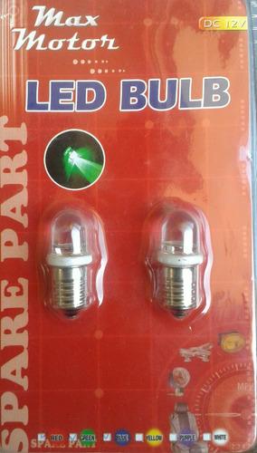 bombillo led rojo 12 voltios luz led