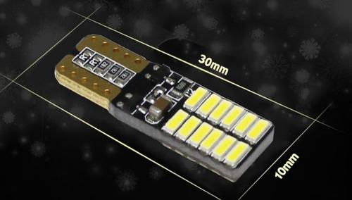 bombillo led t10 24 led mod:7020  tipo cambus (free error)