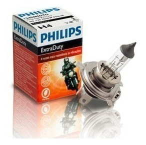bombillo luces farola moto h4 extra duty philips