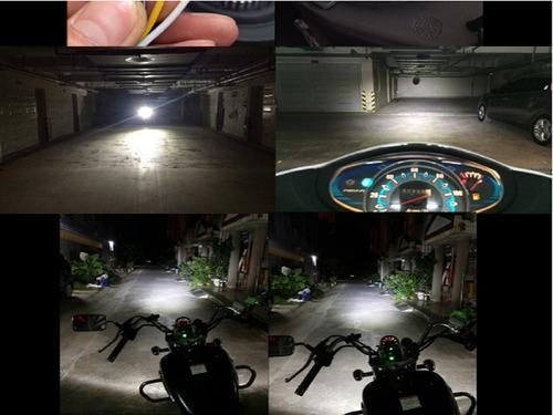 bombillo luces led moto h4 corriente directa /alterna 5000l