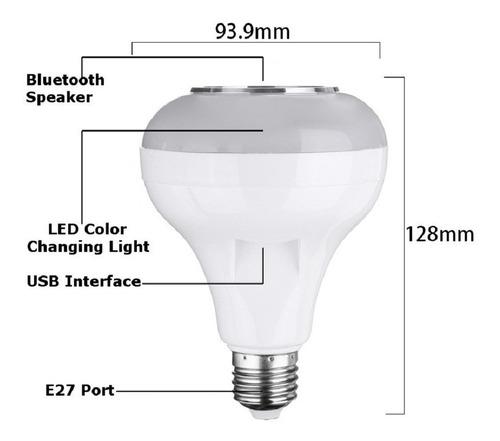 bombillo luz led blanca multicolor bluetooth parlante