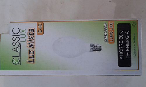 bombillo luz mixta de 250w en 220v rosca e-40 classic lux
