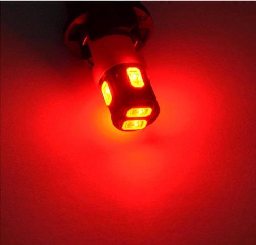 bombillo muelita led t10 6smd t15 420lm alto brillo rojo