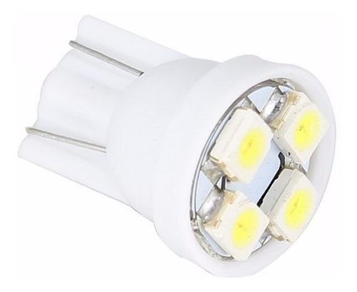 bombillo muelita led t10 luz blanca 4smd alto brillo x 4 und