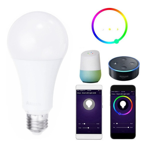 bombillo multicolor led inteligente wifi / smart home