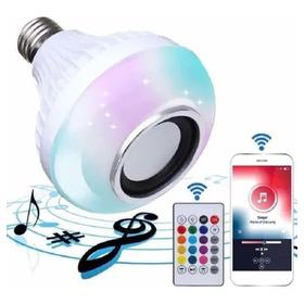 Bombillo Parlante Bluetooth Led Multicolor Rgb Control Remot
