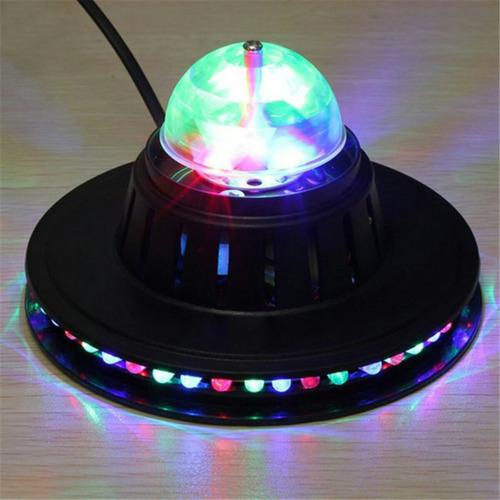 bombillo platillo giratorio luz led discoteca navidad