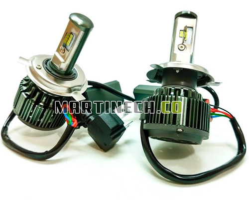 bombillos led carro o moto altas y bajas h4  9600 lm kit x 2