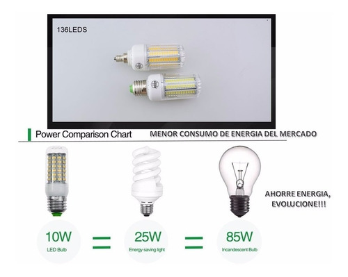 bombillos led minimo consumo 89 led ac 220v-240v