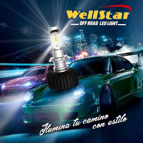 bombillos luces led wellstar  h1 h3 h4 h7 9005 9006 par
