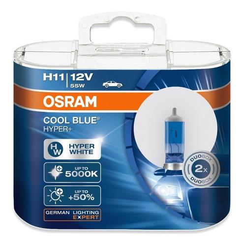 bombillos osram h11 cool blue hyper+ 12v 55w 5.000k