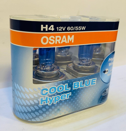 bombillos osram h4 cool blue hyper+ 5000 kelvin luz blanca