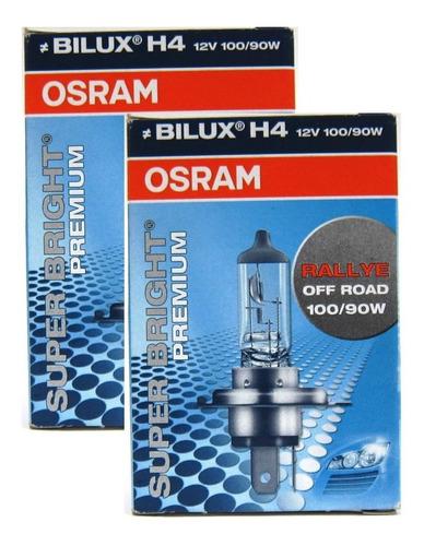 bombillos osram x2 super bright premium h4 12v 100/90w