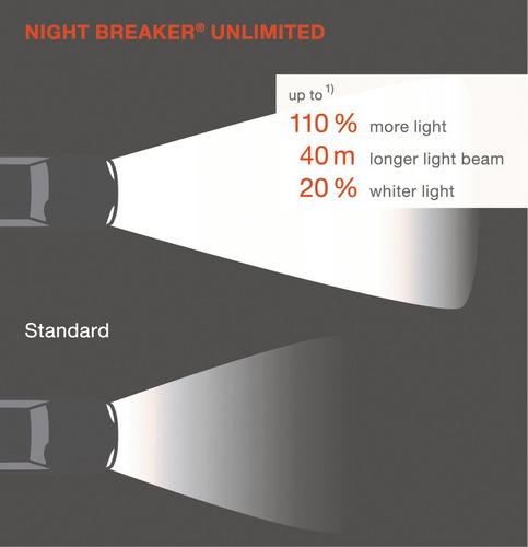 bombillos x2 osram h8 night breaker unlimited 12v 35w